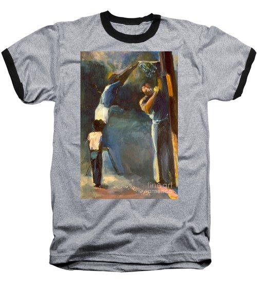Makin Basketball Baseball T-Shirt by Daun Soden-Greene