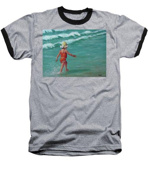 Making A Splash   Baseball T-Shirt by Susan DeLain
