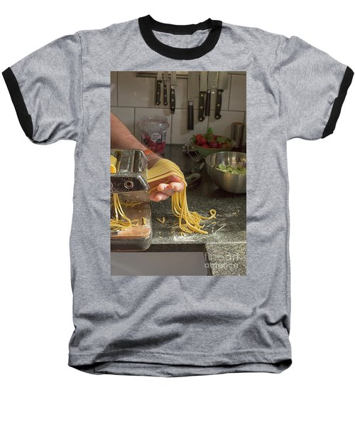 Baseball T-Shirt featuring the photograph Making Pasta by Patricia Hofmeester