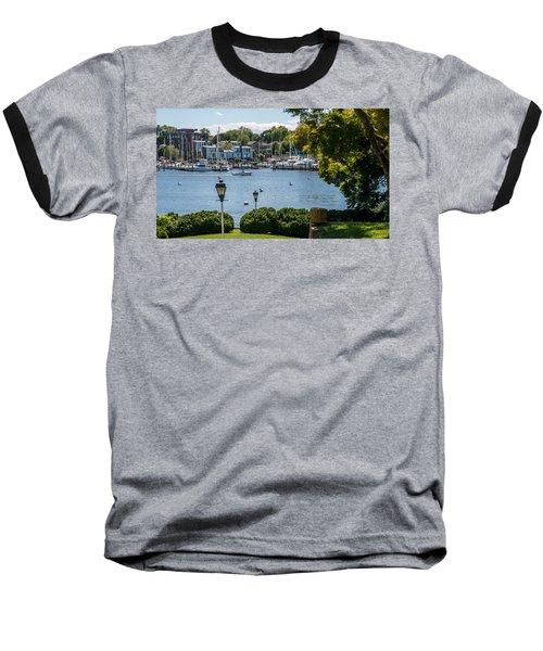 Baseball T-Shirt featuring the photograph Making Way Up Creek by Charles Kraus