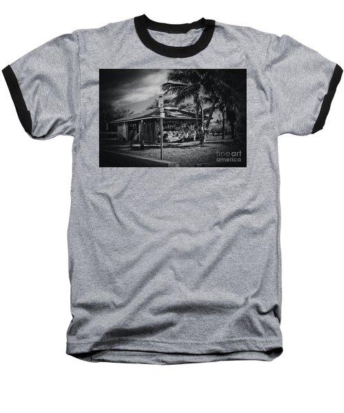 Baseball T-Shirt featuring the photograph Mala Wharf Showers Lahaina Maui Hawaii by Sharon Mau