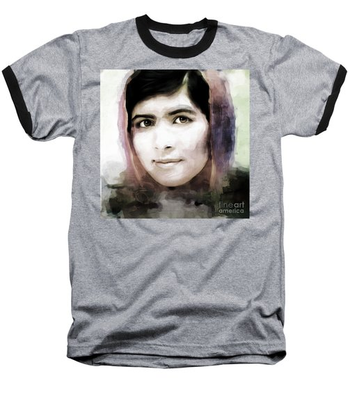 Malala Yousaf Zai 10 Baseball T-Shirt by Gull G