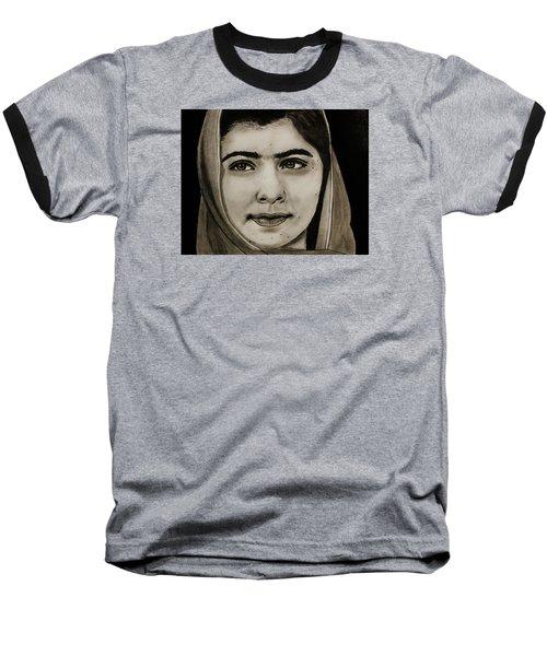 Malala Yousafzai- Teen Hero Baseball T-Shirt by Michael Cross