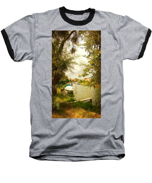Baseball T-Shirt featuring the photograph Malamocco Canal No1 by Anne Kotan