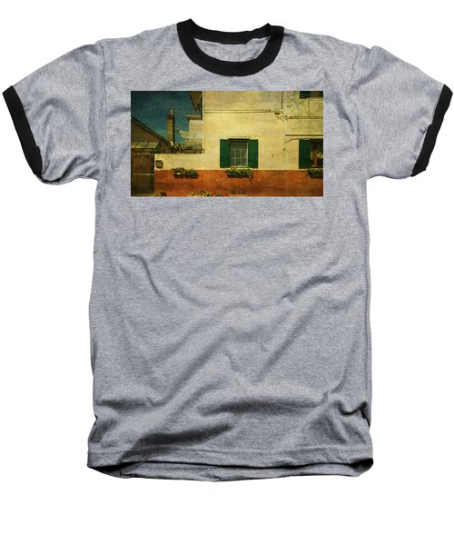 Malamocco Facade No1 Baseball T-Shirt by Anne Kotan