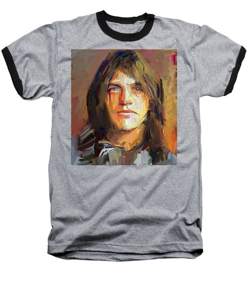 Malcolm Young Acdc Tribute Portrait Baseball T-Shirt