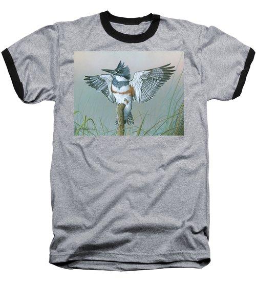 Male Belted Kingfisher Baseball T-Shirt