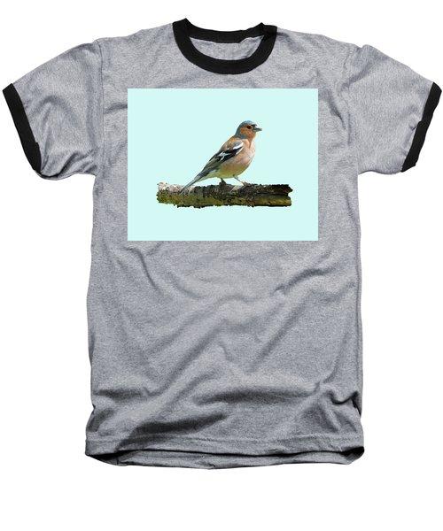 Male Chaffinch, Blue Background Baseball T-Shirt