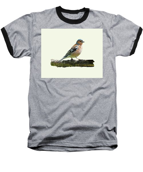 Baseball T-Shirt featuring the photograph Male Chaffinch, Cream Background by Paul Gulliver