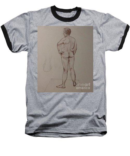 Male Life Drawing Baseball T-Shirt