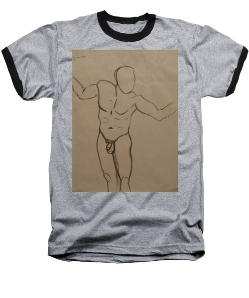 Male Nude Drawing 2 Baseball T-Shirt