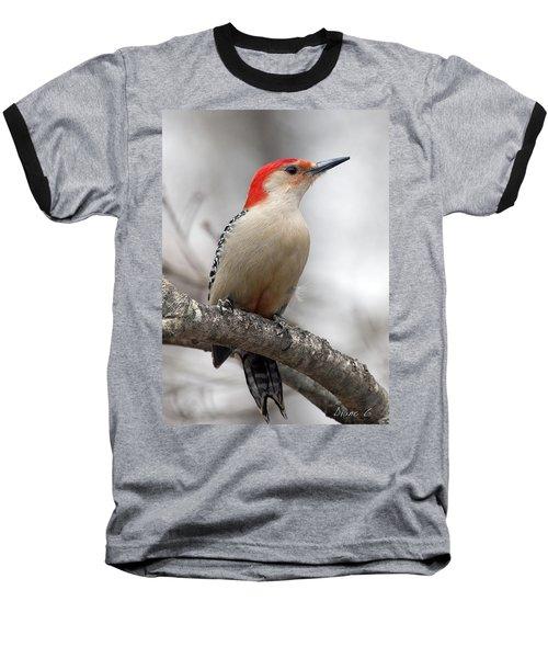 Male Red-bellied Woodpecker Baseball T-Shirt by Diane Giurco