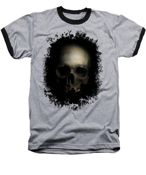 Male Skull Baseball T-Shirt by Jaroslaw Blaminsky