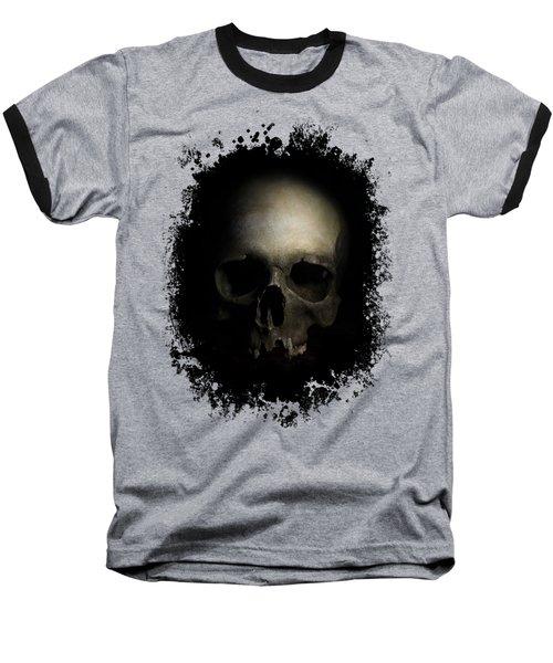 Male Skull Baseball T-Shirt