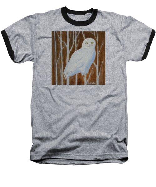 Male Snowy Owl Portrait Baseball T-Shirt