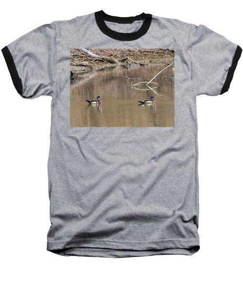 Male Wood Ducks Baseball T-Shirt