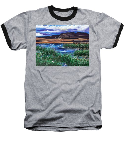 Malhuer Bird Refuge Baseball T-Shirt