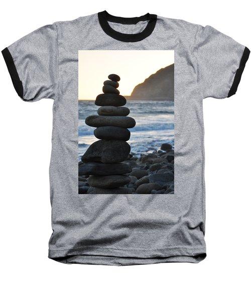 Baseball T-Shirt featuring the photograph Malibu Balanced Rocks by Kyle Hanson