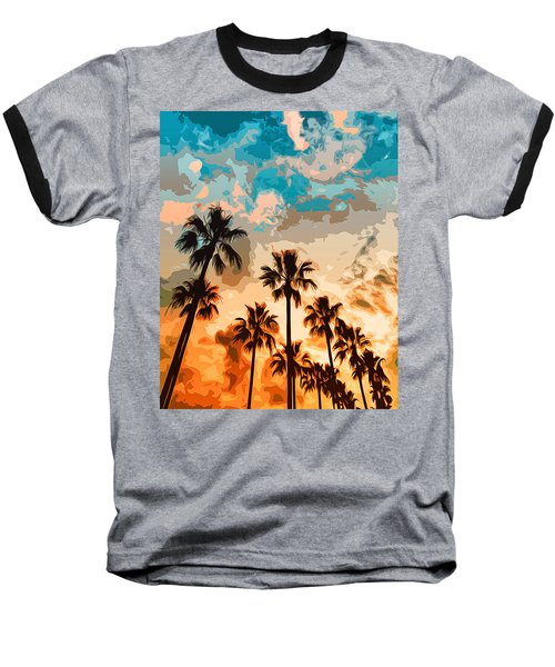 Malibu Beach - Heaven's Sky Baseball T-Shirt