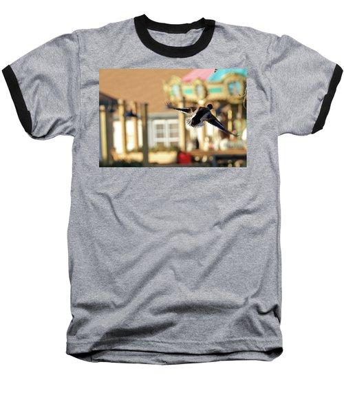 Mallard Duck And Carousel Baseball T-Shirt by Geraldine Scull