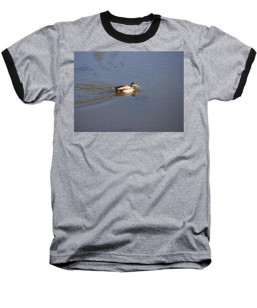 Mallard Duck Burgess Res Co Baseball T-Shirt