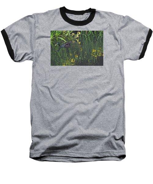 Mallard In The Marsh Baseball T-Shirt by Suzy Piatt