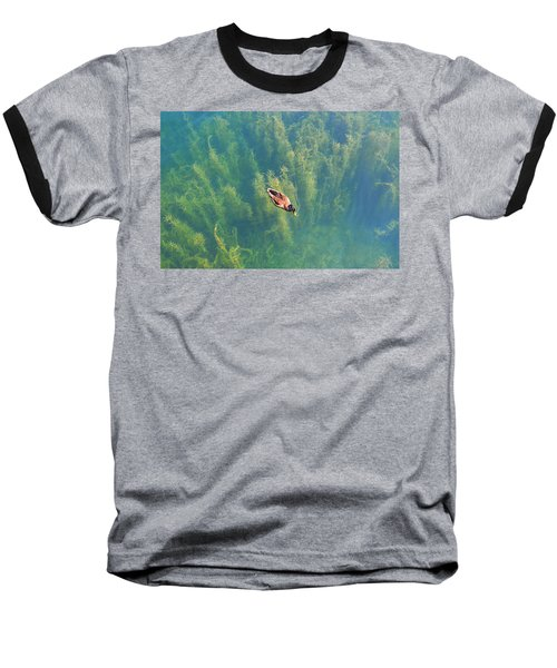 Mallard Over Seaweed Baseball T-Shirt
