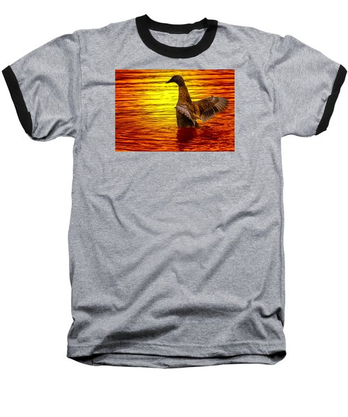 Mallard Sunset Baseball T-Shirt