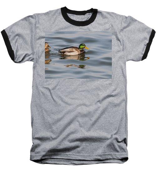 Mallards And Reflection Baseball T-Shirt