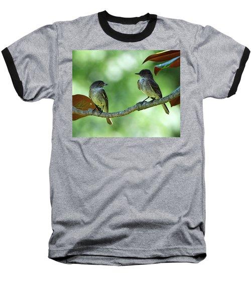 Mama And Papa Kingbird Baseball T-Shirt