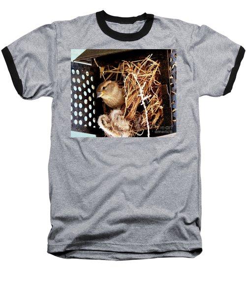 Mama Bird Baseball T-Shirt