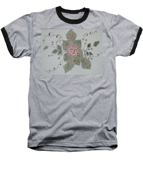 Baseball T-Shirt featuring the drawing Mama Rose And Her Babies by Sharyn Winters
