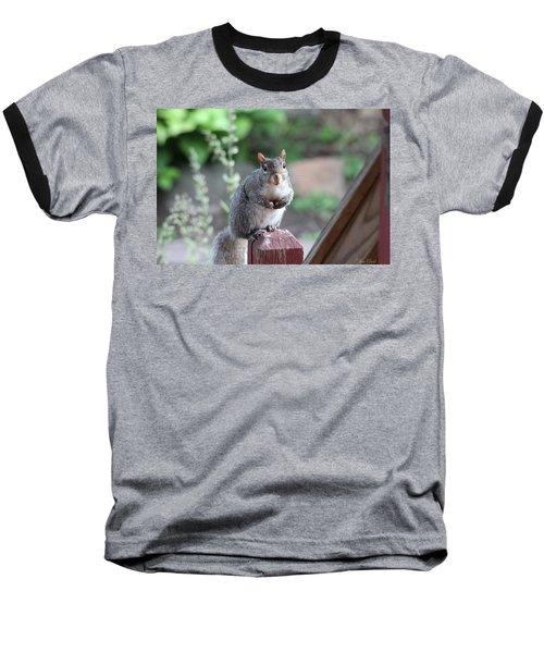 Mama Squirrel Baseball T-Shirt
