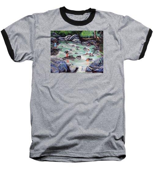 Mami Lavando Ropa Baseball T-Shirt by Luis F Rodriguez