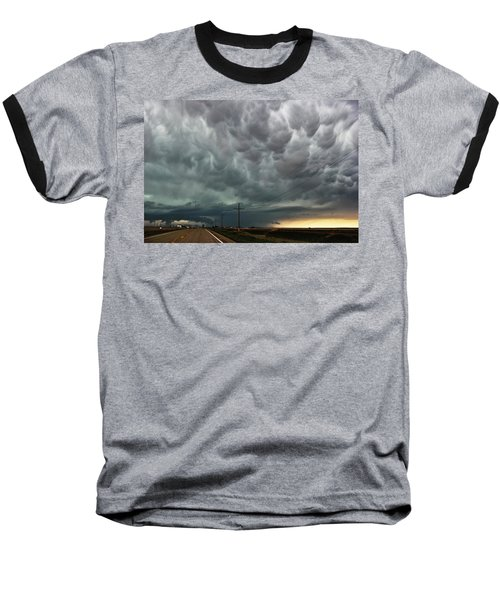 Baseball T-Shirt featuring the photograph Mammatus Over Montata by Ryan Crouse