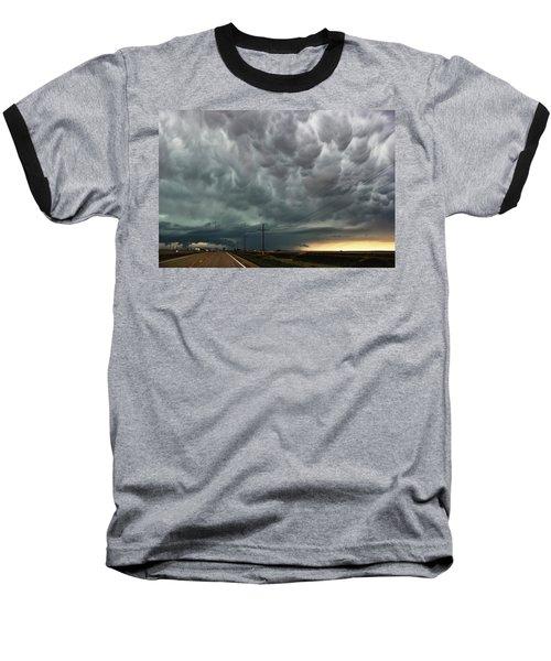 Mammatus Over Montata Baseball T-Shirt by Ryan Crouse