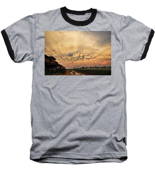 Mammatus Over Yorkton Sk Baseball T-Shirt by Ryan Crouse