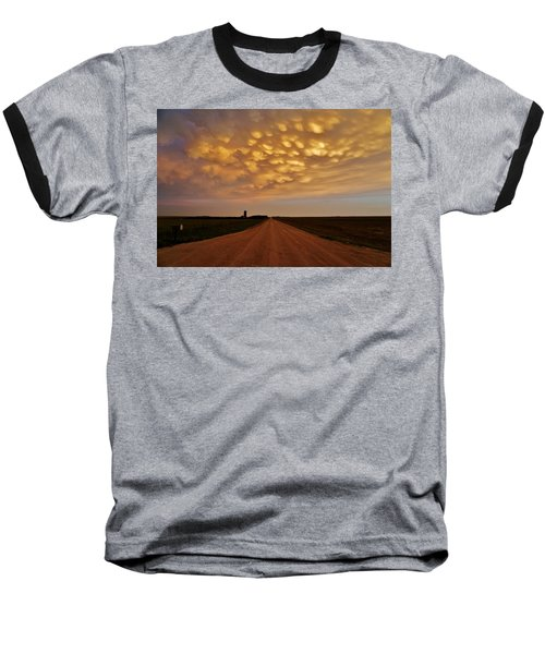 Mammatus Road Baseball T-Shirt by Ed Sweeney