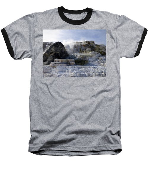Mammoth Hot Springs Terraces Baseball T-Shirt