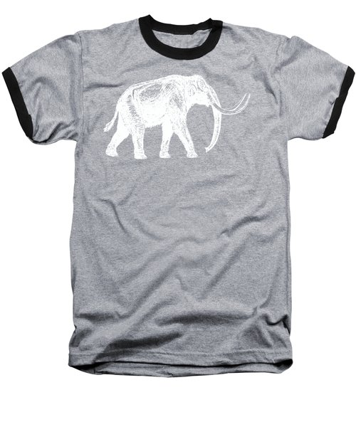 Mammoth White Ink Tee Baseball T-Shirt by Edward Fielding
