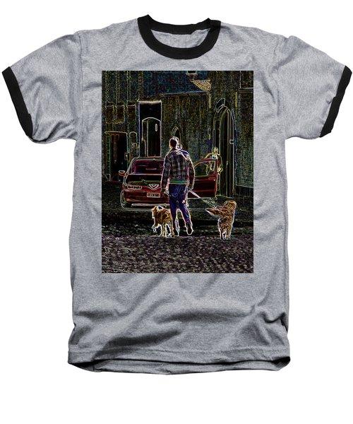 Man And Best Friends Baseball T-Shirt