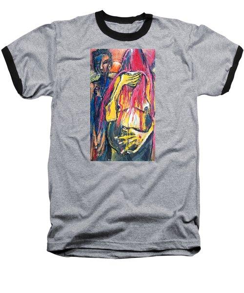 Man And Woman Pregnant Baseball T-Shirt
