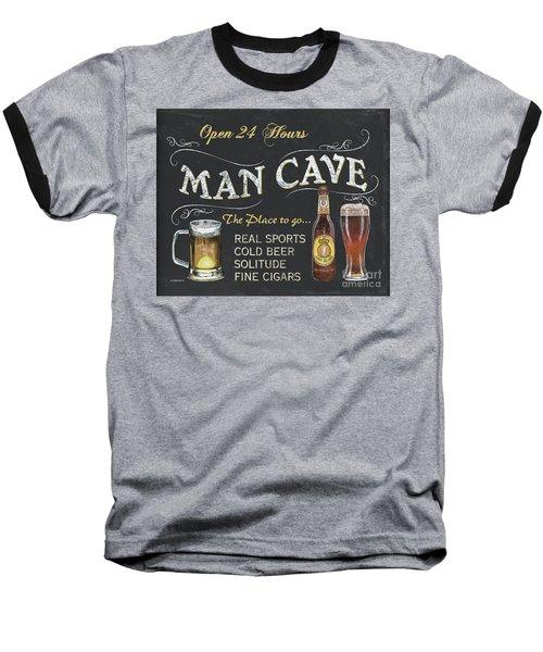 Man Cave Chalkboard Sign Baseball T-Shirt