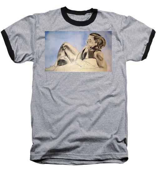 Man In Recline Baseball T-Shirt by Angela Murray