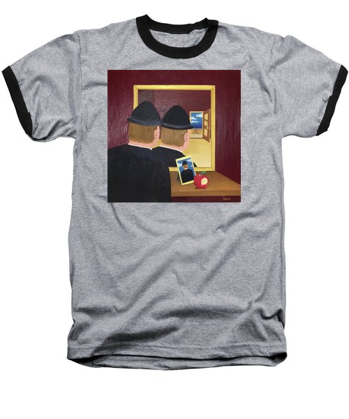 Man In The Mirror Baseball T-Shirt by Thomas Blood