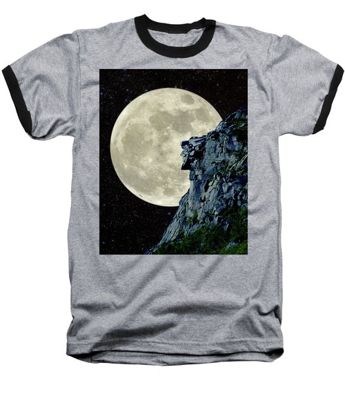 Man In The Moon Meets Old Man Of The Mountain Vertical Baseball T-Shirt