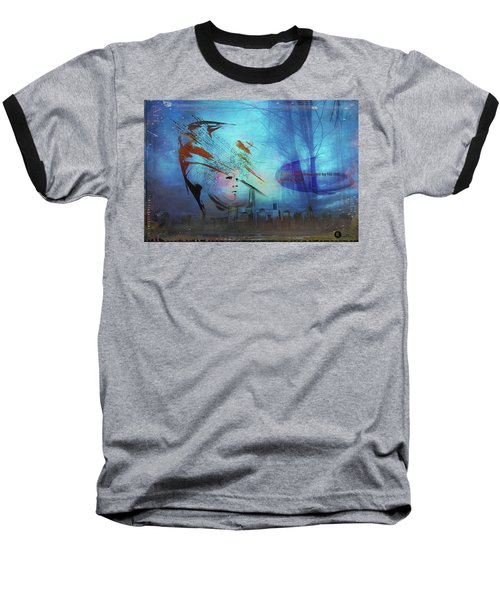 Man Is Art Baseball T-Shirt
