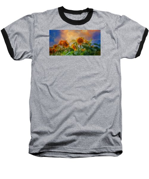 Man It's A Hot One Baseball T-Shirt by Colleen Taylor