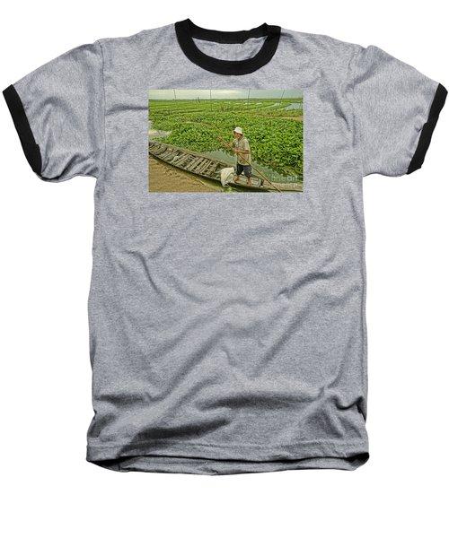 Baseball T-Shirt featuring the photograph Man Of Daily Life by Arik S Mintorogo