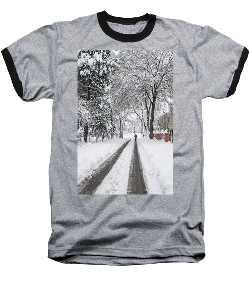 Man On The Road Baseball T-Shirt